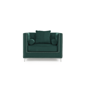Furnish Our Home:Mark Harris New England Armchair Green Velvet