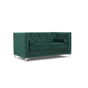 Furnish Our Home:Mark Harris New England 2 Seater Sofa Green Velvet