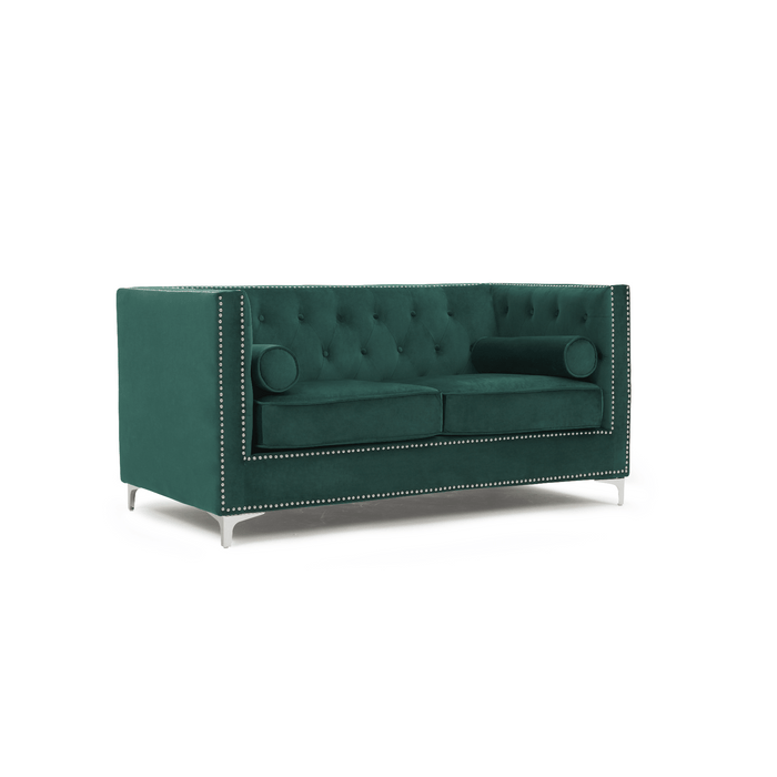 Mark Harris New England 2 Seater Sofa Green Velvet