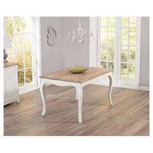 Furnish Our Home:Mark Harris Sienna Ivory White 130cm Dining Table