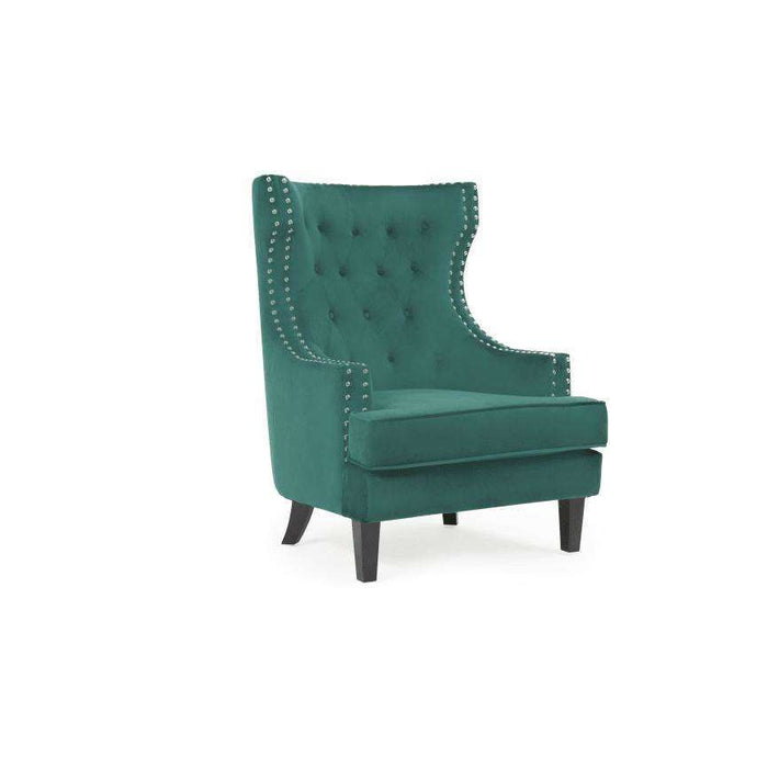 Mark Harris Portia Accent Chair - Green Velvet
