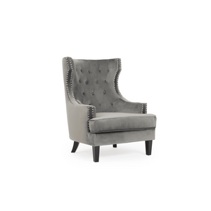 Furnish Our Home:Mark Harris Portia Accent Chair - Grey Velvet