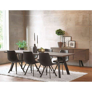 Furnish Our Home:Beco Living Francesca 1.7m Dining TableDark / Smoke Finish