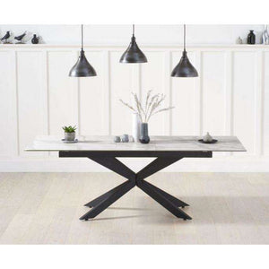Furnish Our Home:Mark Harris Britolli 180cm Ext White Ceramic Dining Table