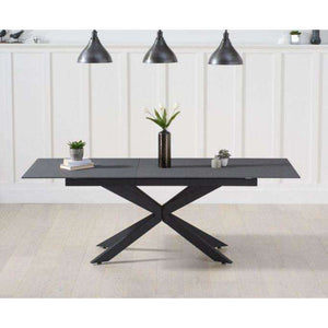 Furnish Our Home:Mark Harris Britolli 180cm Ext Grey Stone Finish Dining Table