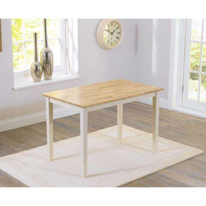 Furnish Our Home:Mark Harris Chichester Solid Hardwood & Painted 115cm Dining Table – Oak & Cream