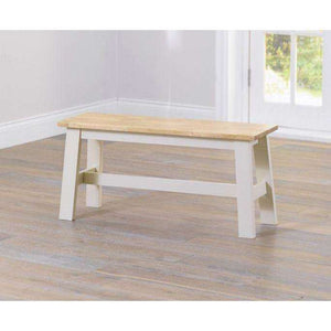 Furnish Our Home:Mark Harris Chichester Oak & Cream Bench (Use With 115cm Table)
