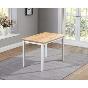 Furnish Our Home:Mark Harris Chichester Solid Hardwood & Painted 115cm Dining Table - Oak & White