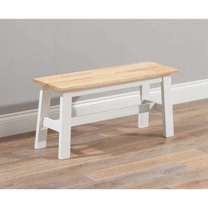 Furnish Our Home:Mark Harris Chichester Oak & White Bench (Use With 115cm Table)