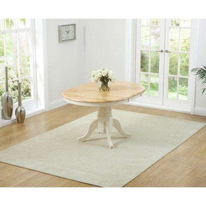 Furnish Our Home:Mark Harris Elstree Oak And Cream Extending Dining Table