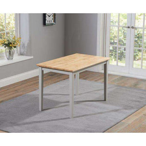 Furnish Our Home:Mark Harris Chichester Solid Hardwood & Painted 115cm Dining Table - Oak & Grey
