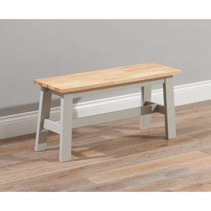 Mark Harris Chichester Oak & Grey Bench (Use With 150cm Table)