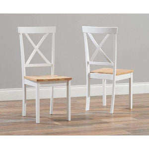 Furnish Our Home:Mark Harris Elstree Oak And White Dining Chair (Pair)