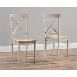 Furnish Our Home:Mark Harris Elstree Oak And Grey Dining Chair (Pair)