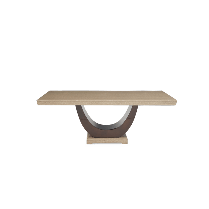 Mark Harris Rivilino 200cm Marble Dining Table - Brown