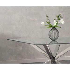 Furnish Our Home:Mark Harris Remus Square Glass Dining Table