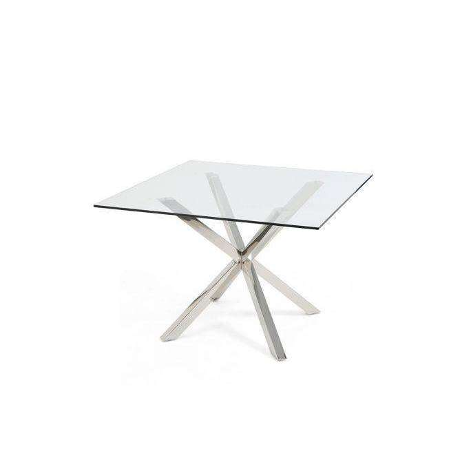 Mark Harris Remus Square Glass Dining Table