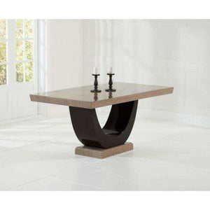 Furnish Our Home:Mark Harris Rivilino Brown Constitued Marble Dining Table