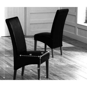 Furnish Our Home:Mark Harris Roma Grey Bycast Leather Chairs (Pair)