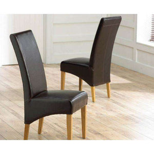 Furnish Our Home:Mark Harris Roma Brown Chairs (Pair)
