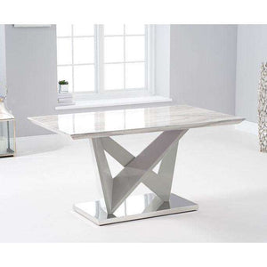 Furnish Our Home:Mark Harris Rosario 150cm High Gloss Light Grey Dining Table