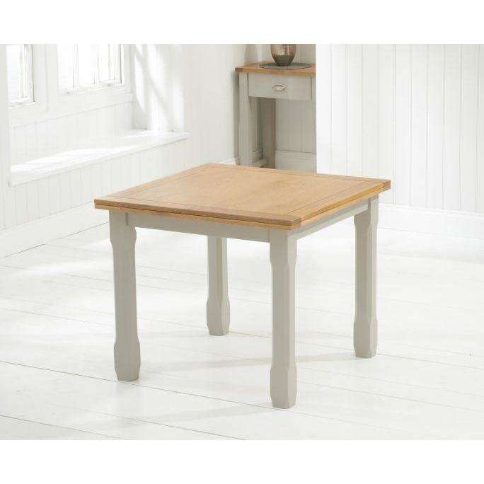 Mark Harris Sandringham Flip Top Grey/Oak Extending Table 90-180cm