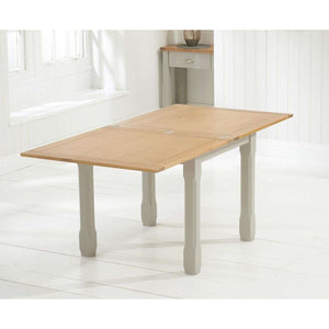 Furnish Our Home:Mark Harris Sandringham 90 Flip Top Grey/Oak Extending Table (90-180)