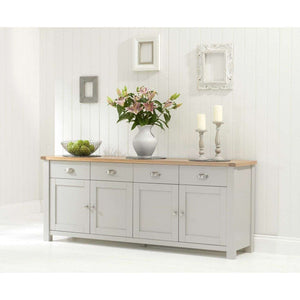 Furnish Our Home:Mark Harris Sandringham 4 Door 4 Drawer Sideboard Oak & Grey