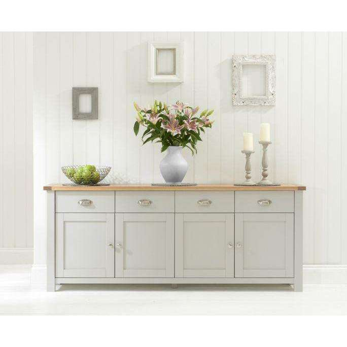 Mark Harris Sandringham 4 Door 4 Drawer Sideboard Oak & Grey