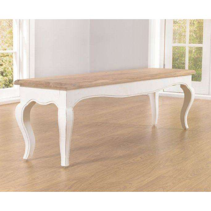 Mark Harris Sienna Ivory White Bench (Use With 175cm Table)