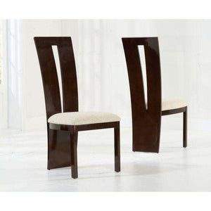 Furnish Our Home:Mark Harris Valencie Brown Solid Wood And High Gloss Dining Chairs (Pair)
