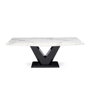Furnish Our Home:Mark Harris Valencie 200cm Marble Dining Table - White