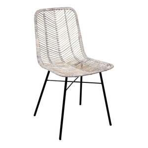 Furnish Our Home:Beco Living Mei Rattan Dining Chair Grey (Pair)
