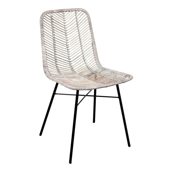 Rowico Maya Rattan Dining Chair Grey (Pair)