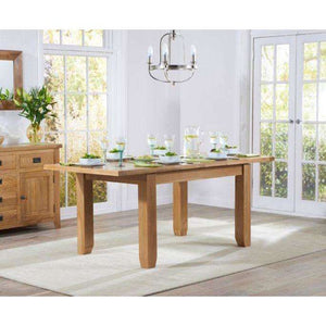 Furnish Our Home:Mark Harris York 130cm Oak Extending Dining Table