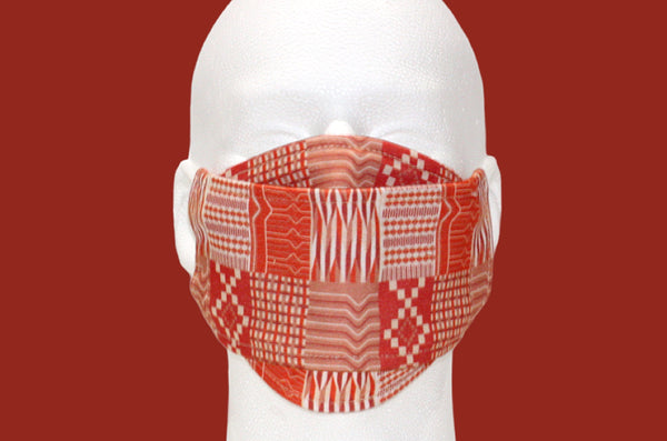 Kente Noir Designer Mask : Burnt Orange