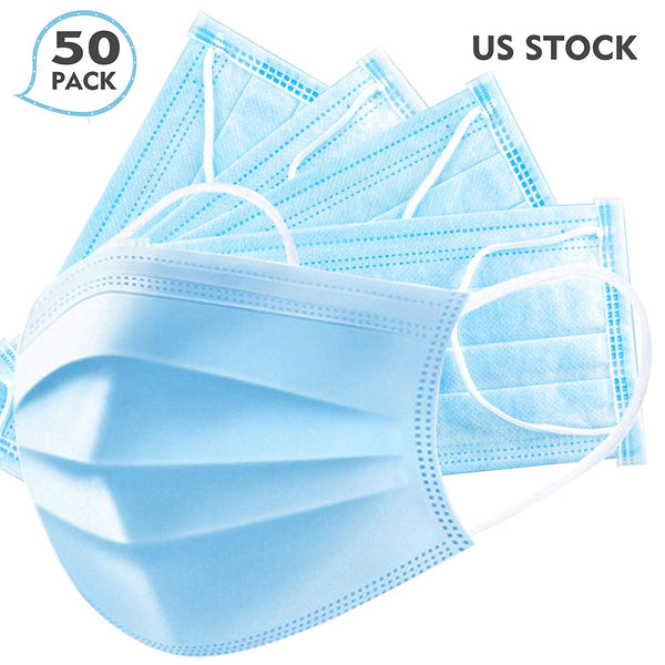 3-Ply Disposable Sterile Face Mask (Box of 10 or 50 Masks)
