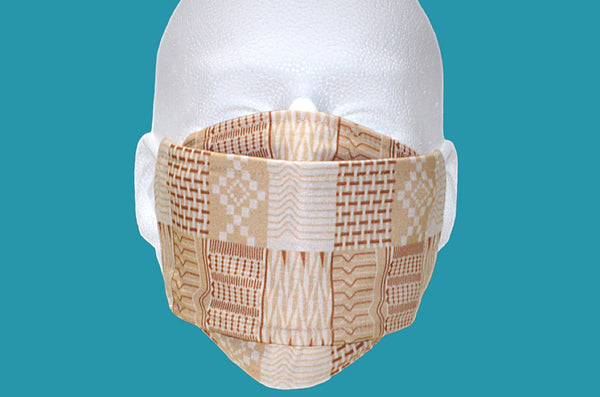 Kente Noir Designer Mask : Sands