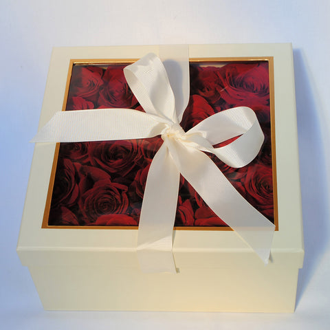 Square Box of Roses