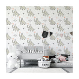 Self Adhesive Hand Drawn Elephant King Removable Wallpaper WW017