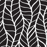 Black Leave Moisture Resistant Self Adhesive Hand Drawn Trails White Lines Bending Plants Deep Deco Dreams Removable Wallpaper WW026