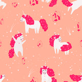 Unicorn Little Pony Dreams Pink Girl Animal Magical Kingdom Fun Horse Self Adhesive Hand Drawn Removable Wallpaper WW034