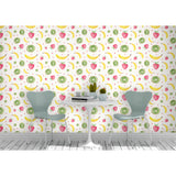 Self Adhesive Hand Drawn Banana Strawberry Kiwi Kitchen Fun Removable Wallpaper WW046