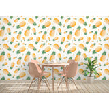 Self Adhesive Hand Drawn Pineapple Kitchen Fun Removable Wallpaper WW047