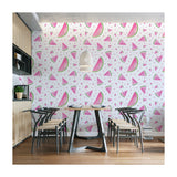 Self Adhesive Hand Drawn Watermelon Red Kitchen Fun Removable Wallpaper WW049