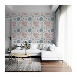 Self Adhesive Hand Drawn Ocean Life Removable Wallpaper WW050