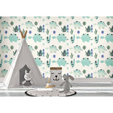 Dinosaurs Boy Girl Animals Theme Bedroom Forest Creatures Custom Wallpaper Self Adhesive Hand Drawn Removable Wallpaper WW054