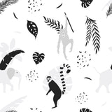 Australia Fauna Animals Nursery Decor Boy Jungle Botanical Self Adhesive Hand Drawn Removable Wallpaper WW060