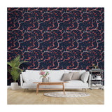 Thunders Flower Lightning Stormy Bolt Potter Peel & Stick Decor Powers Self Adhesive Hand Drawn Removable Wallpaper WW074