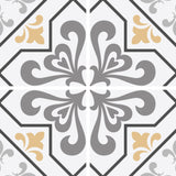 Barolo Testino Mediterranean Cream Italian Roman Caraka Mosaic Mirror Effect Removable Vinyl Self Adhesive Hand Drawn Wallpaper WW082